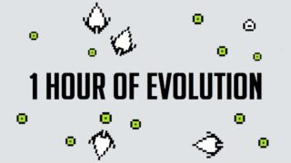 1-hour Evolution of an AI ecosystem v0.9